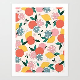 Citrus crush Art Print