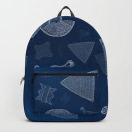 Diatoms - microscopic sea life Backpack