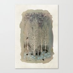 White Woods Canvas Print