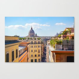 ROME the Streets:  Rooftop View of Rome, Italy Canvas Print