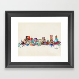 Portland Oregon skyline Framed Art Print