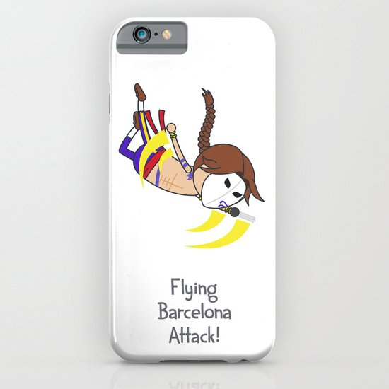 Flying Barcelona Attack iPhone & iPod Case