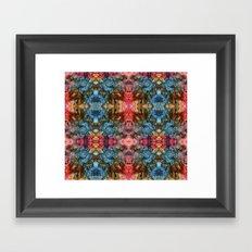 Oil Pastel Pattern Framed Art Print
