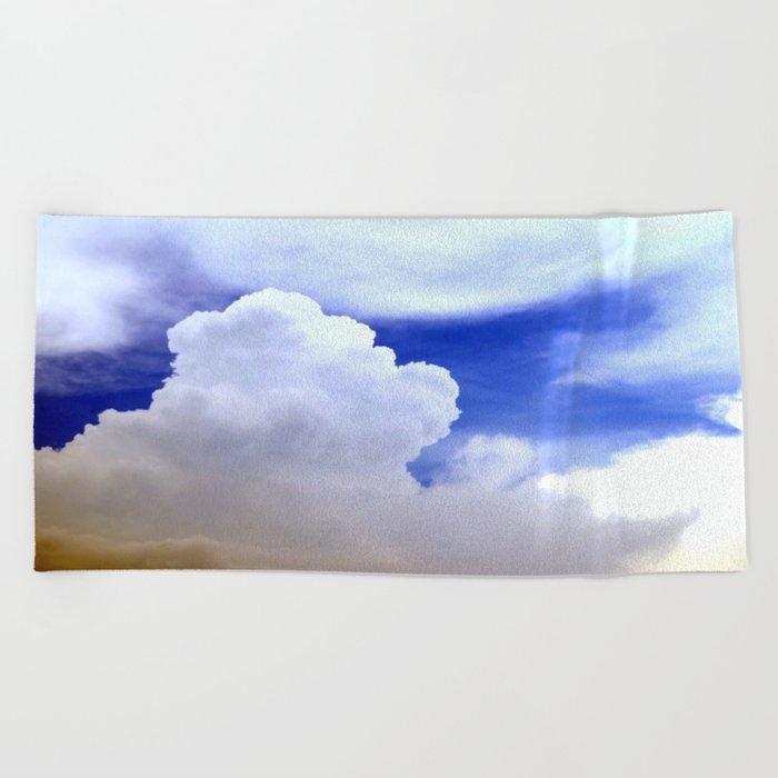 cloudburst Beach Towel