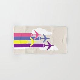 Colorful airplanes Hand & Bath Towel