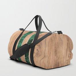 Wood Grain Stripes - Green Granite #901 Duffle Bag
