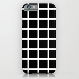 Basic White and Black Grid iPhone Case