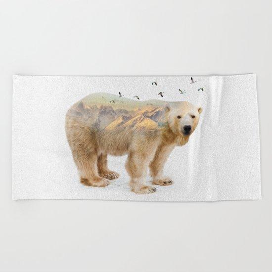 Wild I Shall Stay | Polar Bear Beach Towel