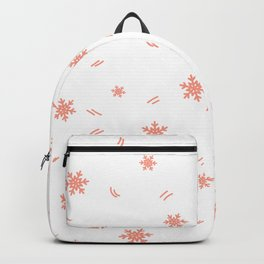 Kid pattern. Seamless winter кpattern on a white background. Backpack