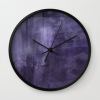 psychology Wall Clocks featuring Ecphory by Art by Mel