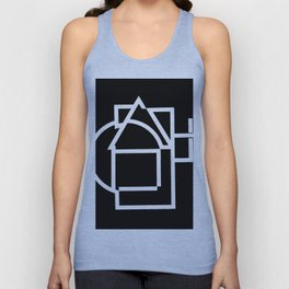 Astract house negative Unisex Tank Top