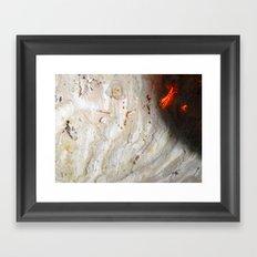 Flaming Seashell 2 Framed Art Print