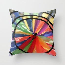 Wind Wheel Throw Pillow