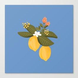 Lemon tree throw pillow Canvas Print