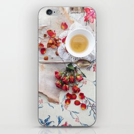 Tea with Roses iPhone Skin
