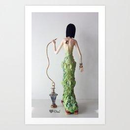 Madame Saturina Caterpillar Art Print