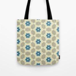 Cornwall beige khaki and ink blue pattern Tote Bag