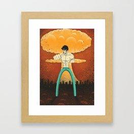 Kenshiro doesn't look at explosions Framed Art Print