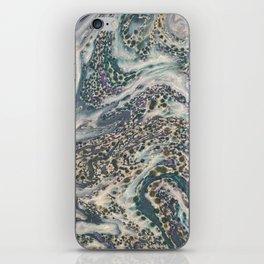 Metallic Marbled Agate iPhone Skin