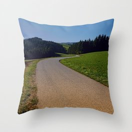 Country road through rural scenery II | landscape photography Throw Pillow