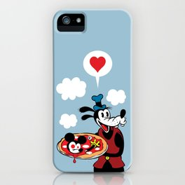 MICKEY'S PIZZA iPhone Case