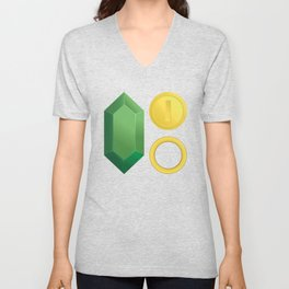Video Game Money - Zelda, Mario, Sonic Unisex V-Neck