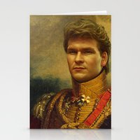 replaceface Stationery Cards featuring Patrick Swayze - replaceface by replaceface