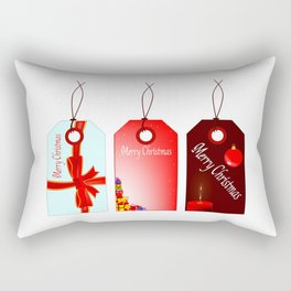 Christmas Tag Set Rectangular Pillow