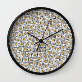 Daisy flowers print (11-2-19) Wall Clock