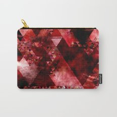 Dark hell- geometrical triangle - modern red backdrop on #Society6 Carry-All Pouch