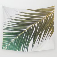 palm tree Wall Tapestries featuring palm tree by iulia pironea