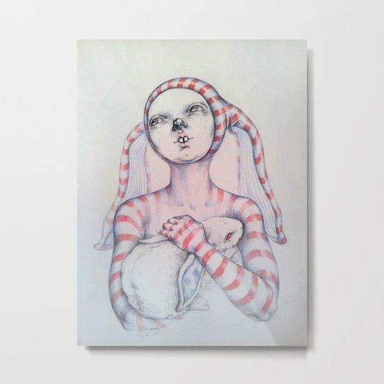 The Bunny rabbit Metal Print