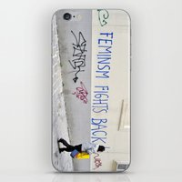 feminism iPhone & iPod Skins featuring Feminism fights back by SpaceoperaImage