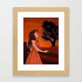 Learn to let the longing go Framed Art Print