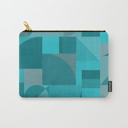 Turquoise Bauhaus Carry-All Pouch