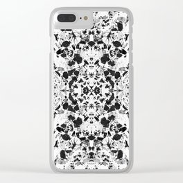 Beautiful Black and White Terrazzo Tile Clear iPhone Case