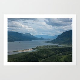 Columbia River Gorge From The Vista House Art Print