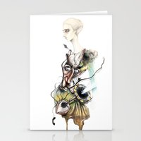 dali Stationery Cards featuring Dali by ginosunscreen