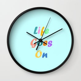 Life Goes On BTS Wall Clock