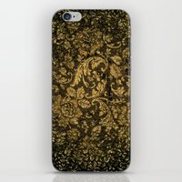 decorative iPhone & iPod Skins featuring Decorative damask by nicky2342