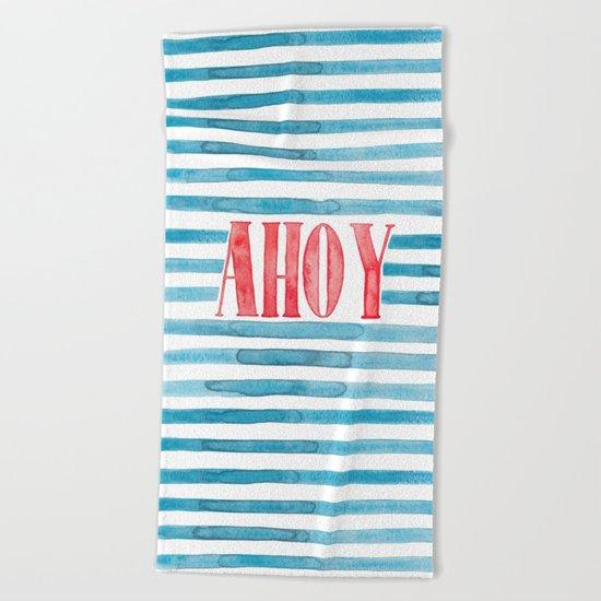 Ahoy Beach Towel