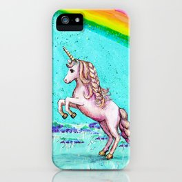 Rainbow's End: Elise Finds Her Courage iPhone Case