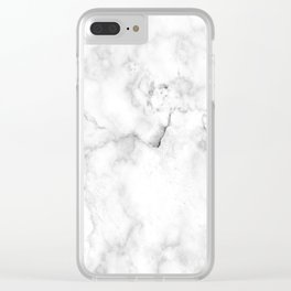 White marble decor | Marble stone | Marble design | White furniture Clear iPhone Case