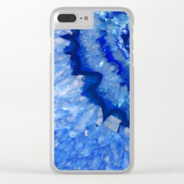 Ocean Blue Crystal Clear iPhone Case