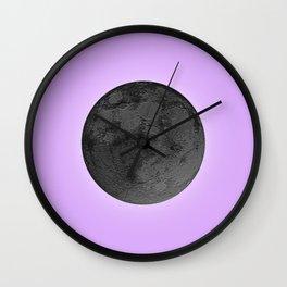 BLACK MOON + LAVENDER SKY Wall Clock