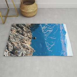 Dog Gone Climbing // High above Copper Mountain Ski Resort in Colorado Landscape Photograph Rug