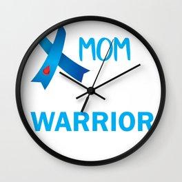 Proud MOM of a Diabetes Warrior Wall Clock