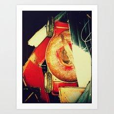 Abstract photo called Mowed Art Print