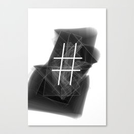 Hashtag typographic treatment.  Dark Math. # Canvas Print