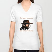 clint eastwood V-neck T-shirts featuring Clint Eastwood by Mr. Stonebanks